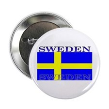 Sweden Swedish Flag Button