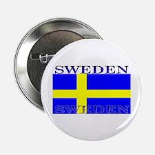 Sweden Swedish Flag Button