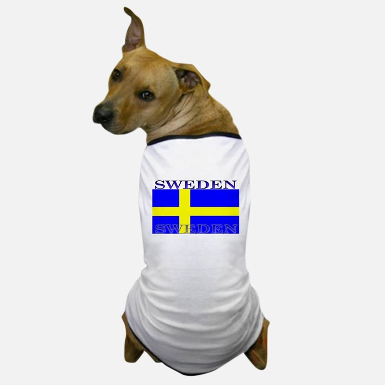 Sweden Swedish Flag Dog T-Shirt