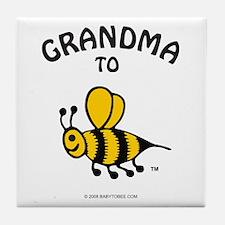 Cute Expecting grandma Tile Coaster