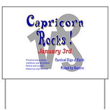 Capricorn January 3rd Yard Sign