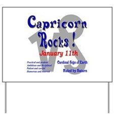 Capricorn January 11th Yard Sign