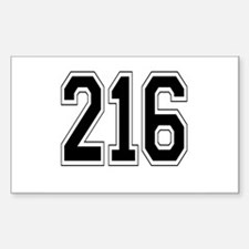 216 Rectangle Decal
