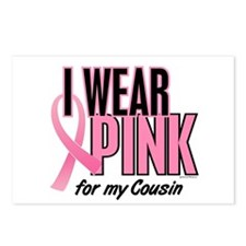 I Wear Pink For My Cousin 10 Postcards (Package of