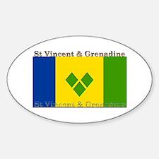 St Vincent & Grenadine Oval Decal