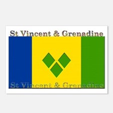 St Vincent & Grenadine Postcards (Package of 8)