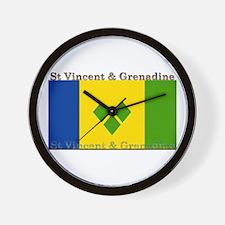 St Vincent & Grenadine Wall Clock