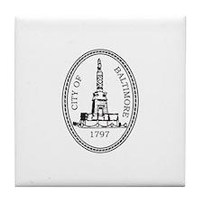BALTIMORE-CITY-SEAL Tile Coaster