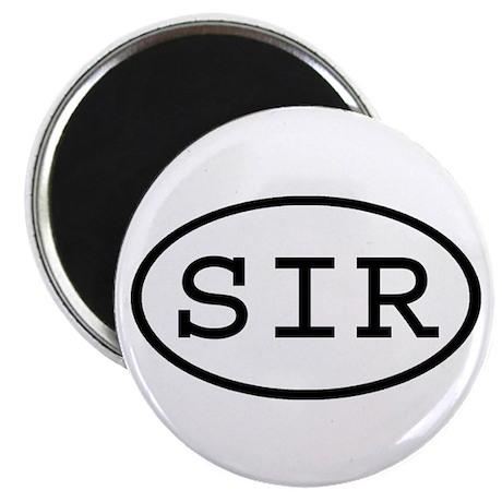 SIR Oval Magnet