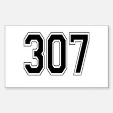 307 Rectangle Decal