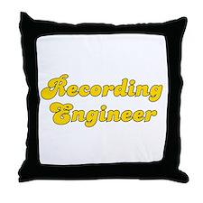 Retro Recording e.. (Gold) Throw Pillow