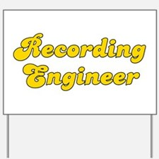 Retro Recording e.. (Gold) Yard Sign