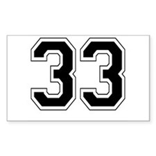 33 Rectangle Decal
