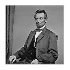 Pres Abraham Lincoln Tile Coaster