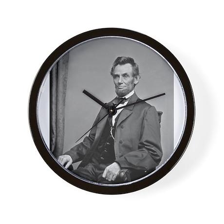Pres Abraham Lincoln Wall Clock