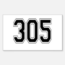 305 Rectangle Decal