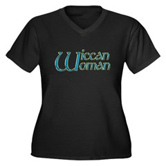 Wiccan Woman Wicca Women's Plus Size V-Neck Dark T