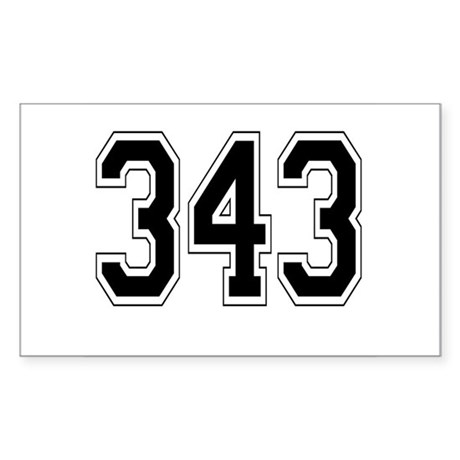 343 Rectangle Sticker