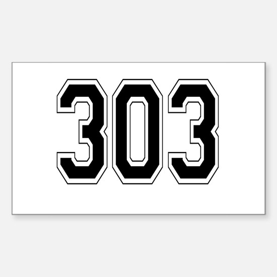 303 Rectangle Decal