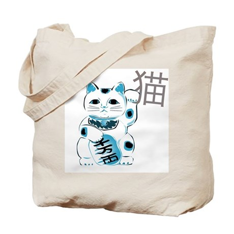 Mint Maneki Neko Tote Bag
