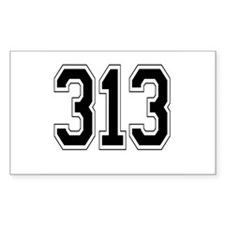 313 Rectangle Decal