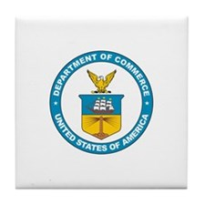 DEPARTMENT-OF-COMMERCE-SEAL Tile Coaster