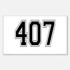 407 Rectangle Decal