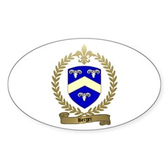 BERGER Family Crest Oval Decal