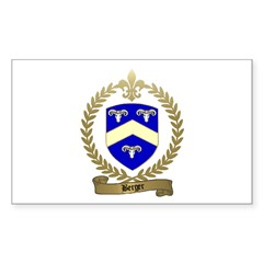 BERGER Family Crest Rectangle Decal