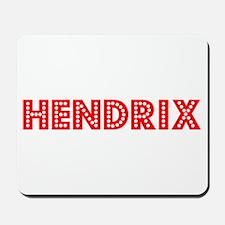 Retro Hendrix (Red) Mousepad