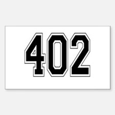 402 Rectangle Decal