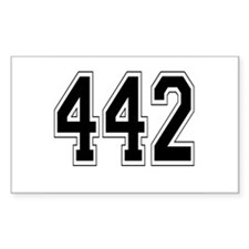 442 Rectangle Decal