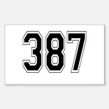 387 Rectangle Decal