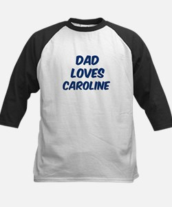 Dad loves Caroline Kids Baseball Jersey