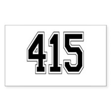415 Rectangle Decal