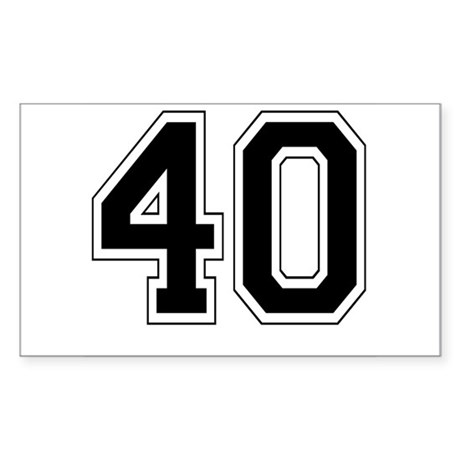 40 Rectangle Sticker