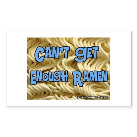 Can't Get Enough Ramen Rectangle Sticker