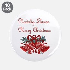 """Welsh Christmas 3.5"""" Button (10 pack)"""