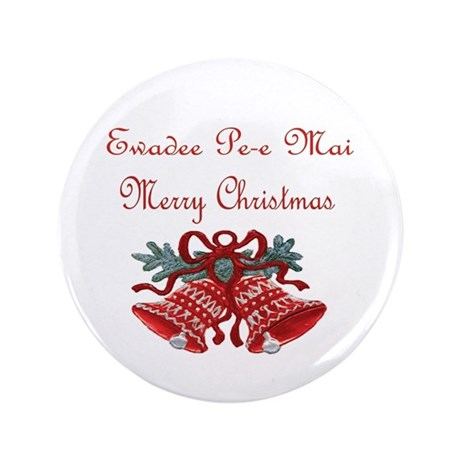 "Thai Christmas 3.5"" Button"