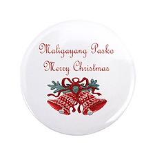 "Filipino Christmas 3.5"" Button (100 pack)"