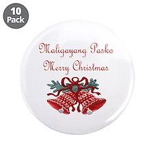 "Filipino Christmas 3.5"" Button (10 pack)"
