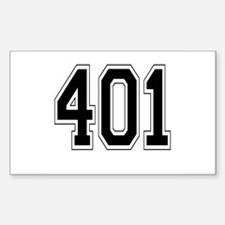 401 Rectangle Decal