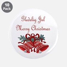 """Norway Christmas 3.5"""" Button (10 pack)"""
