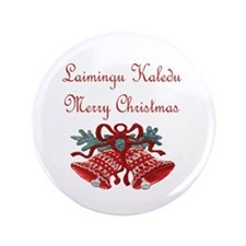 """Lithuanian Christmas 3.5"""" Button (100 pack)"""