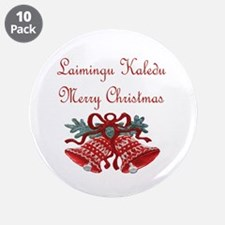 """Lithuanian Christmas 3.5"""" Button (10 pack)"""