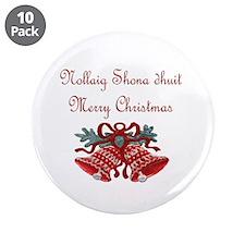 "Irish Christmas 3.5"" Button (10 pack)"
