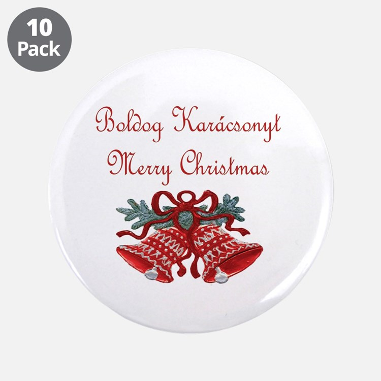 """Hungarian Christmas 3.5"""" Button (10 pack)"""