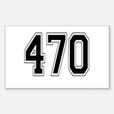 470 Rectangle Decal