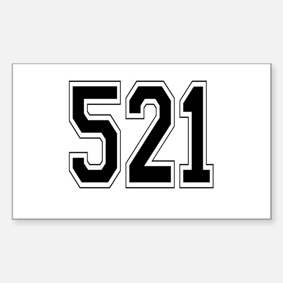 521 Rectangle Decal