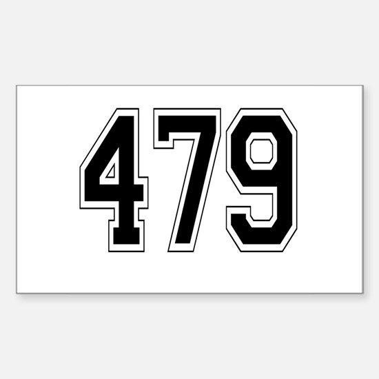 479 Rectangle Decal